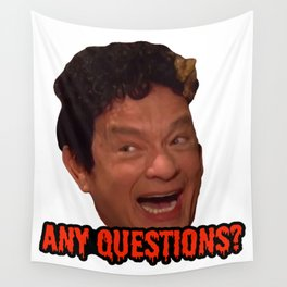David S. Pumpkins - Any Questions? III Wall Tapestry