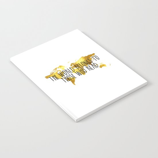 The World Belongs to those Who Read - Gold Notebook