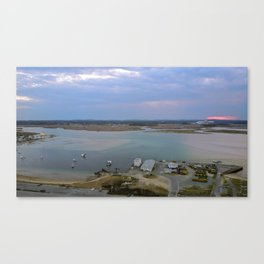 Harbor's End of Day Canvas Print