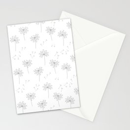 Dandelions in Grey Stationery Cards