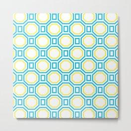 Blue Harmony in Symmetry Metal Print