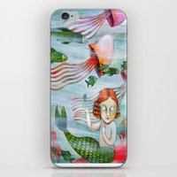 siren iPhone & iPod Skins featuring SIREN by Lauraballa StudioArte