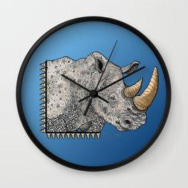 Rhino Totem Wall Clock