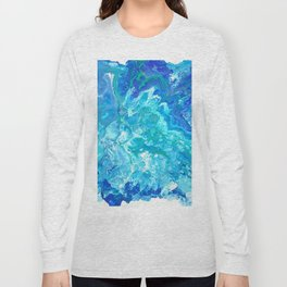 Aqua Ocean Blue Long Sleeve T-shirt