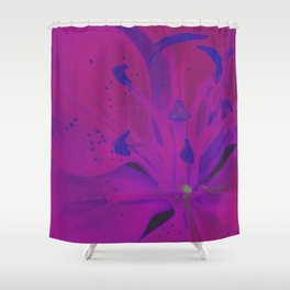 Star Gazer Lilly Up Close Solarized colors #2 Shower Curtain