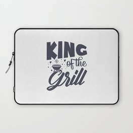 Happy Father's Day - King At The Grill Laptop Sleeve