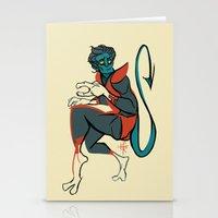 nightcrawler Stationery Cards featuring Nightcrawler by gofishblues