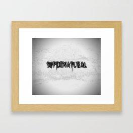 Supernatural monochrome Framed Art Print