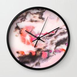 Modern marble Pink Wall Clock