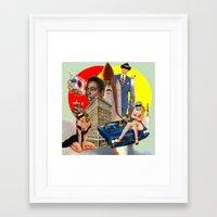 smoking Framed Art Prints featuring Smoking by TRASH RIOT