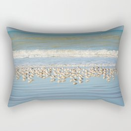 Birds, reflections in water Rectangular Pillow