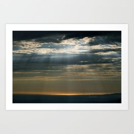 Cracks In The Clouds Art Print