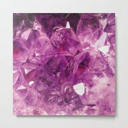 The Violet Crystal Metal Print