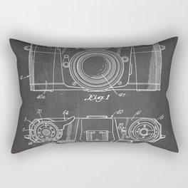 Camera Patent - Photography Art - Black Chalkboard Rectangular Pillow