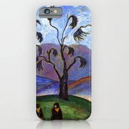 'Lovers Walk' pastoral landscape painting by Marianne von Werefkin iPhone Case