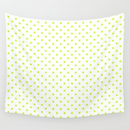 Dots (Lime/White) Wall Tapestry