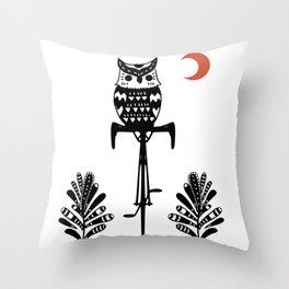 Boho Animals Owl Throw Pillow