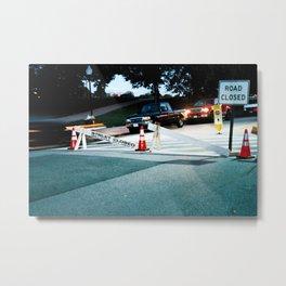 Road Closure Metal Print