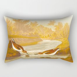Little Sandpiper Bird Rectangular Pillow