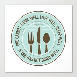 Dined Well Canvas Print