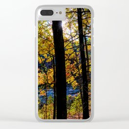 Walden Pond Autumn Forest  in Concord Massachusetts Clear iPhone Case