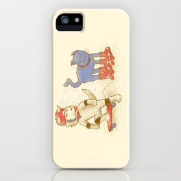 Skateboard dogs don't like roller skate cats iPhone Case