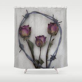 Three dried Roses II Shower Curtain