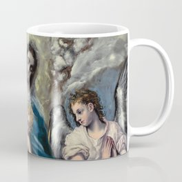 "El Greco (Domenikos Theotokopoulos) ""Madonna and Child with Saint Martina and Saint Agnes"" Coffee Mug"