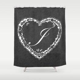 J Vintage Valentine Chalkboard Shower Curtain
