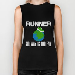 Runner Gift | Earth Running Shoe Marathon Earth Biker Tank