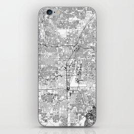 Las Vegas White Map iPhone Skin
