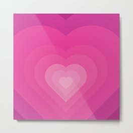 Bubble Gum Heart - Illustration Metal Print