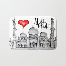 I love Abu Dhabi  Bath Mat