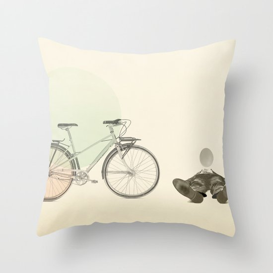 bad egg Throw Pillow