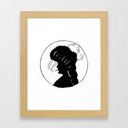 Lady smoking. Framed Art Print