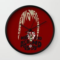 soul eater Wall Clocks featuring maka albarn soul eater by Rebecca McGoran