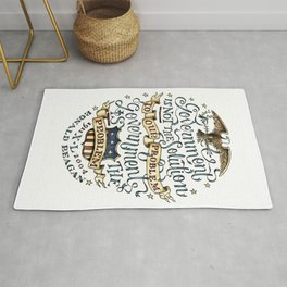 small government, larger freedom Rug
