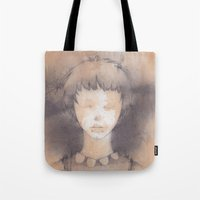 lucy Tote Bags featuring Lucy by Shiro