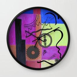 avant-garde still life . artwork Wall Clock