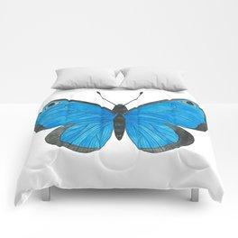 Morpho Butterfly Illustration Comforters