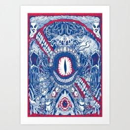 Monster Label Art Print