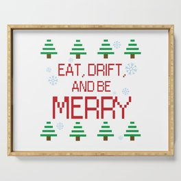 Eat, Drift, and be Merry Serving Tray
