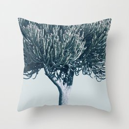 Monochrome - Candelabra tree Throw Pillow