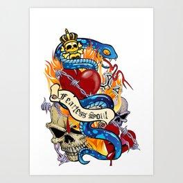 Fearless soul Art Print