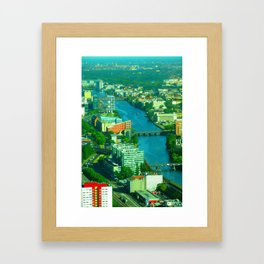 Looking down from the Fernsehturm Framed Art Print