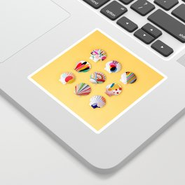 Rainbow Print Shells Sticker