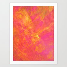 Pink and Orange Stripes Art Print