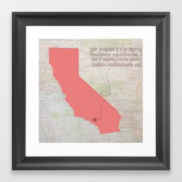 [Los] Angels Left This City // California Framed Art Print