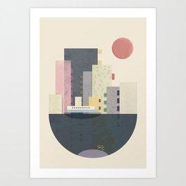 City on Earth Art Print