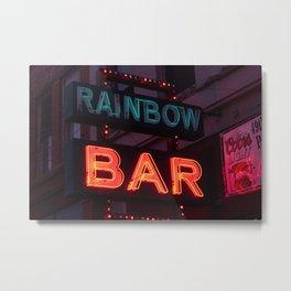 Rainbow Bar - Sheridan, WY Metal Print